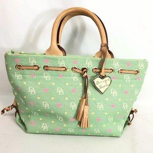 Dooney Bourke DB Logo Signature mini tassel Bag